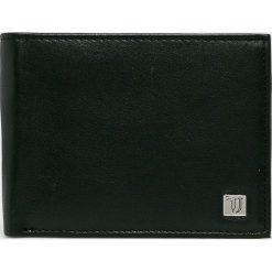 Trussardi Jeans - Portfel skórzany. Czarne portfele męskie TRUSSARDI JEANS, z jeansu. W wyprzedaży za 299.90 zł.