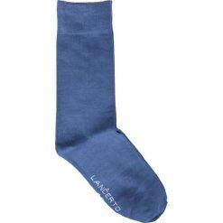 Skarpety Niebieskie. Niebieskie skarpety męskie LANCERTO, w kolorowe wzory, z bawełny. Za 29.90 zł.