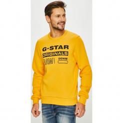 G-Star Raw - Bluza. Pomarańczowe bluzy męskie G-Star Raw, z nadrukiem, z bawełny. Za 329.90 zł.