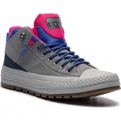 Trampki CONVERSE - Ctas Street Boot Hi 162361C Mason/Obsidian/Pink Pop. Szare trampki męskie Converse, z gumy. W wyprzedaży za 299.00 zł.