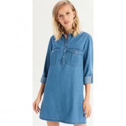 Denimowa sukienka - Niebieski. Niebieskie sukienki damskie Sinsay. Za 79.99 zł.