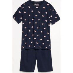 Piżama z szortami - Granatowy. Niebieskie piżamy męskie Reserved. Za 79.99 zł.