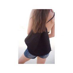 Plecak don't-mesh-with-me. Czarne plecaki damskie Desert snow, z bawełny. Za 69.00 zł.