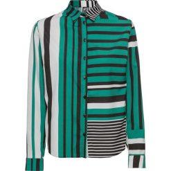 Bluzka bonprix zielono-czarno-biały w paski. Bluzki damskie marki DOMYOS. Za 59.99 zł.