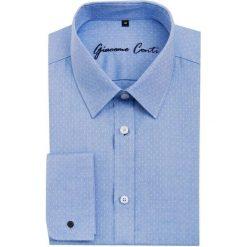Koszula SIMONE1E KDNS000090. Niebieskie koszule męskie Giacomo Conti, z bawełny, z klasycznym kołnierzykiem. Za 229.00 zł.