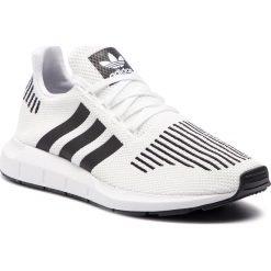 Buty adidas - Swift Run CQ2116 Ftwwht/Cblack/Mgreyh. Białe buty sportowe męskie Adidas, z materiału. Za 379.00 zł.