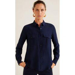 Mango - Koszula Storm. Szare koszule damskie Mango, z materiału, klasyczne, z klasycznym kołnierzykiem, z długim rękawem. Za 119.90 zł.