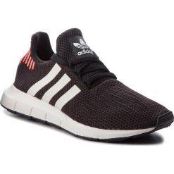 Buty adidas - Swift Run B37730 Cblack/Ftwwht/Greone. Czarne obuwie sportowe damskie Adidas, z materiału. W wyprzedaży za 299.00 zł.