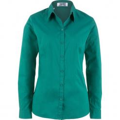 Bluzka z długim rękawem bonprix dymny szmaragdowy. Niebieskie bluzki damskie bonprix, z długim rękawem. Za 54.99 zł.