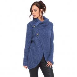 """Kardigan """"Stone"""" w kolorze niebieskim. Niebieskie kardigany damskie Cosy Winter, ze splotem. W wyprzedaży za 181.95 zł."""