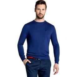 Sweter PIETRO SWGxGxx-0015SP. Niebieskie swetry przez głowę męskie Giacomo Conti, z bawełny. Za 199.00 zł.