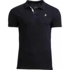 Koszulka polo męska TSM610 - czarny - Outhorn. Czarne koszulki polo męskie Outhorn, na lato, z bawełny. W wyprzedaży za 39.99 zł.