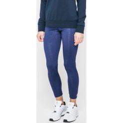 Adidas Performance - Legginsy. Niebieskie legginsy damskie adidas Performance, z dzianiny. W wyprzedaży za 99.90 zł.