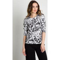 Bluzka nietoperz z rękawem 3/4 BIALCON. Białe bluzki damskie BIALCON, z materiału, biznesowe. W wyprzedaży za 98.00 zł.