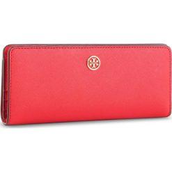 Duży Portfel Damski TORY BURCH - Robinson Slim Wallet 52704 Brilliant Red 612. Czerwone portfele damskie Tory Burch, ze skóry. Za 769.00 zł.