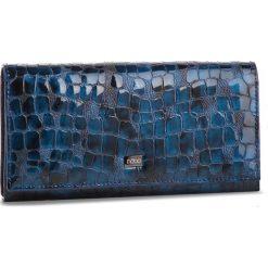 Duży Portfel Damski NOBO - NPUR-LG0180-C012 Granatowy. Niebieskie portfele damskie Nobo, z lakierowanej skóry. W wyprzedaży za 179.00 zł.