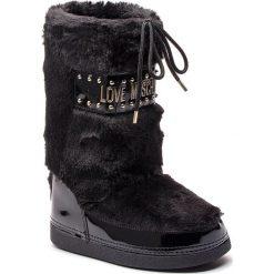 Śniegowce LOVE MOSCHINO - JA24052G06JS0000 Nero. Czarne kozaki damskie Love Moschino, z materiału. Za 719.00 zł.