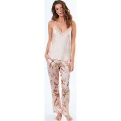 Etam - Spodnie piżamowe Songe. Szare piżamy damskie Etam, z materiału. W wyprzedaży za 89.90 zł.