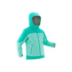 Kurtka SH500 X-WARM dla dzieci. Niebieskie kurtki i płaszcze dla dziewczynek QUECHUA, z polaru. Za 229.99 zł.