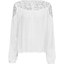 Tunika z koronką bonprix ecru. Białe tuniki damskie bonprix, w koronkowe wzory, z koronki. Za 99.99 zł.