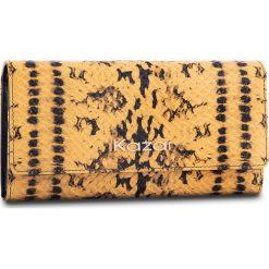 Duży Portfel Damski KAZAR - 16087-08-A1 Black/Yellow. Żółte portfele damskie Kazar, ze skóry. W wyprzedaży za 279.00 zł.
