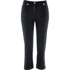 Spodnie z bengaliny 3/4 bonprix czarny. Spodnie materiałowe damskie marki DOMYOS. Za 74.99 zł.