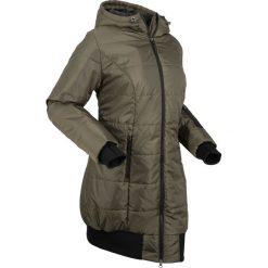 Długa kurtka pikowana bonprix ciemnooliwkowo-czarny. Zielone kurtki damskie bonprix. Za 239.99 zł.
