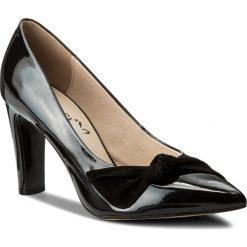 Półbuty CAPRICE - 9-22403-20 Black Comb 019. Czarne półbuty damskie Caprice, ze skóry ekologicznej, eleganckie. W wyprzedaży za 169.00 zł.