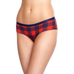 Happy Socks - Figi Hipster Lumberjack. Różowe figi damskie Happy Socks, z bawełny. W wyprzedaży za 39.90 zł.