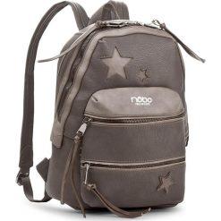 Plecak NOBO - NBAG-D4040-C019 Szary. Brązowe plecaki damskie Nobo, ze skóry ekologicznej, eleganckie. W wyprzedaży za 139.00 zł.