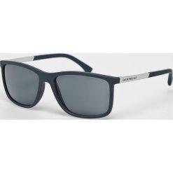 Emporio Armani - Okulary. Brązowe okulary przeciwsłoneczne męskie Emporio Armani, z tworzywa sztucznego. Za 699.90 zł.