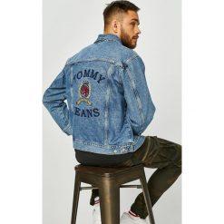 Tommy Jeans - Kurtka. Szare kurtki męskie Tommy Jeans, z haftami, z bawełny. Za 899.90 zł.