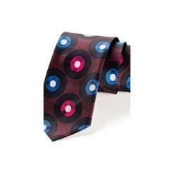 Krawat męski WINYLE BORDO. Niebieskie krawaty i muchy Hisoutfit, z materiału. Za 129.00 zł.