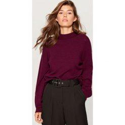 Sweter z bufiastymi rękawami - Fioletowy. Fioletowe swetry damskie Mohito. Za 119.99 zł.