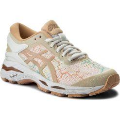 Buty ASICS - Gel-Kayano 24 Lite-Show T8A9N White/White/Apricot Ice 0101. Brązowe obuwie sportowe damskie Asics, z materiału. W wyprzedaży za 519.00 zł.