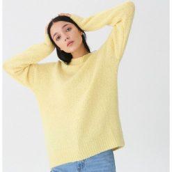 Sweter z wełną - Żółty. Żółte swetry damskie House, z wełny. Za 119.99 zł.