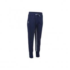 Spodnie tenisowe Warm F500 damskie. Niebieskie spodnie materiałowe damskie ARTENGO, z elastanu. Za 59.99 zł.