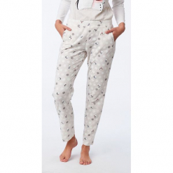 Etam - Spodnie piżamowe. Szare piżamy damskie Etam, z bawełny. Za 99.90 zł.