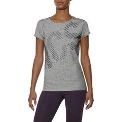 T-shirt Asics Graphic SS Tee 126295-0714. Szare t-shirty damskie Asics, z bawełny. W wyprzedaży za 79.99 zł.