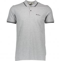 Koszulka polo w kolorze szarym. Szare koszulki polo męskie Ben Sherman, z haftami, z bawełny. W wyprzedaży za 108.95 zł.