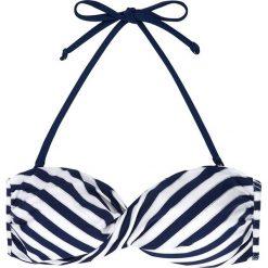 """Biustonosz bikini """"Ambrosia"""" w kolorze biało-granatowym. Biustonosze Dorina, w paski. W wyprzedaży za 34.95 zł."""