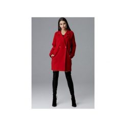 Płaszcz M625 Czerwony. Czerwone płaszcze damskie Figl, z tkaniny. Za 299.00 zł.