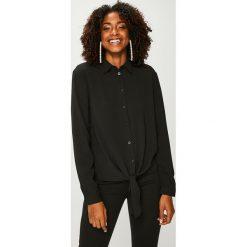 Answear - Koszula. Czarne koszule damskie ANSWEAR, z elastanu, casualowe, z klasycznym kołnierzykiem, z długim rękawem. Za 89.90 zł.