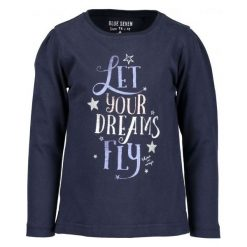 Blue Seven Koszulka Dziewczęca Z Napisem 110 Niebieska. Niebieskie bluzki dla dziewczynek Blue Seven, z napisami. Za 45.00 zł.