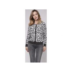 Sweter w panterkę, SWE164 grafit/szary/ecru MKM. Białe swetry damskie Mkm swetry, z dzianiny. Za 148.00 zł.