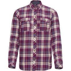 Koszula flanelowa, długi rękaw bonprix fiołkowo-jeżynowy w kratę. Fioletowe koszule damskie bonprix, z długim rękawem. Za 74.99 zł.