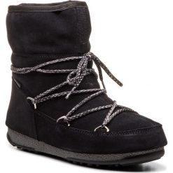 Śniegowce MOON BOOT - W.E. Low Suede WP. 24008300001 Nero. Czarne śniegowce i trapery damskie Moon Boot, z materiału. Za 779.00 zł.