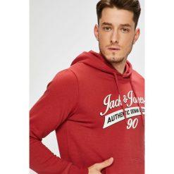 Jack & Jones - Bluza. Różowe bluzy męskie Jack & Jones, z nadrukiem, z bawełny. W wyprzedaży za 99.90 zł.