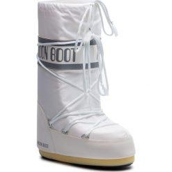 Śniegowce MOON BOOT - Nylon 14004400006 Bianco. Białe śniegowce i trapery damskie Moon Boot, z materiału. Za 359.00 zł.