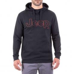 Bluza w kolorze czarnym. Czarne bluzy męskie Jeep, z nadrukiem. W wyprzedaży za 112.95 zł.